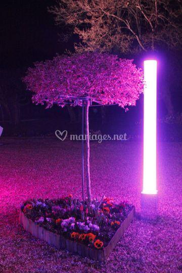 Projecteur tube LED 2m sur batterie