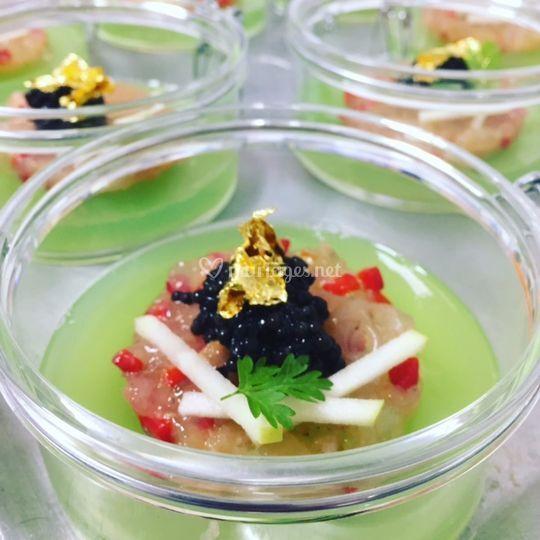 Pomme et caviar