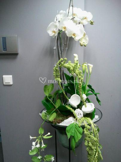 Composition floral salle