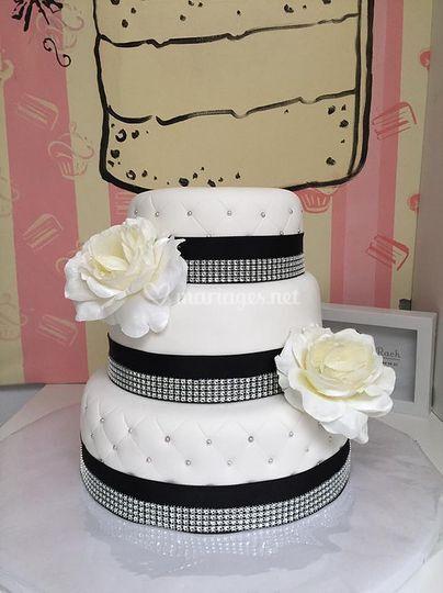 Wedding Cake Noir et blanc