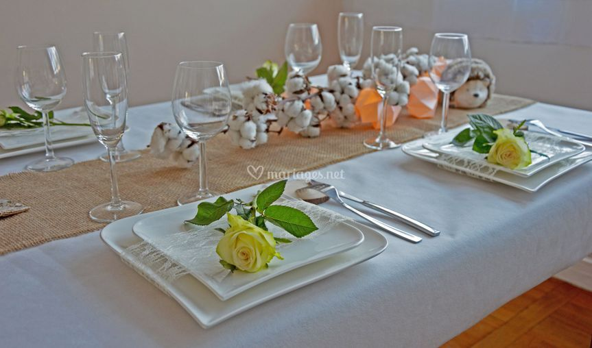 Table mariage chic hivernal