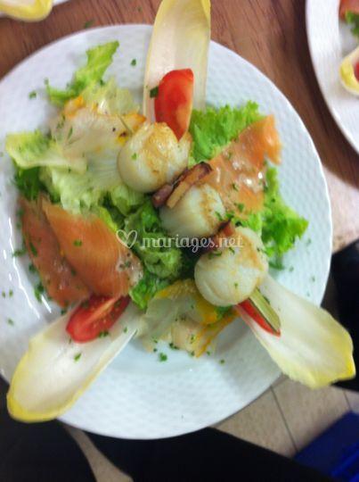 Salade gourmande du pêcheur