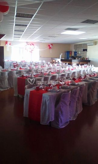 Déco mariage rouge blance