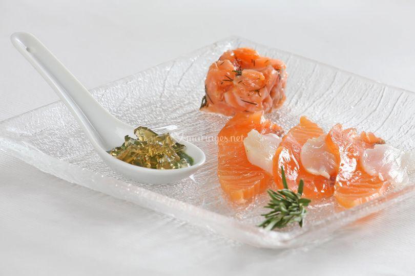 Assiette de saumon ...
