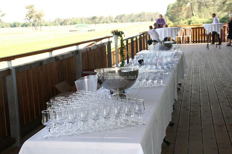 Terrasse dressage mariage