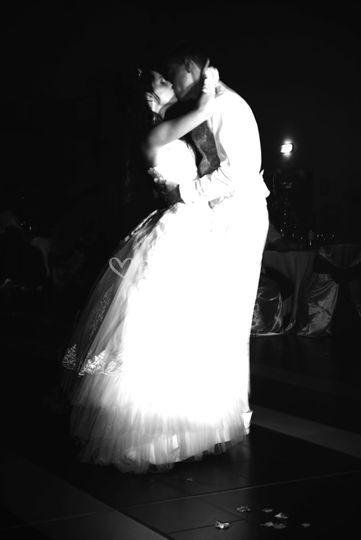 Le couple à l'ouverture de bal