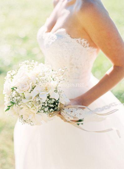 Bouquet mariée tout blanc