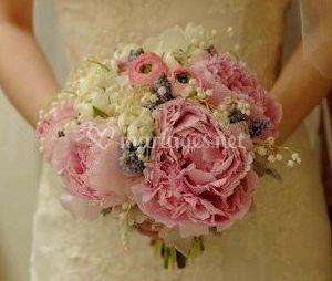 Bouquet en  pivoines