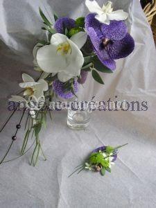 Bouquet vanda et phalaenospsis