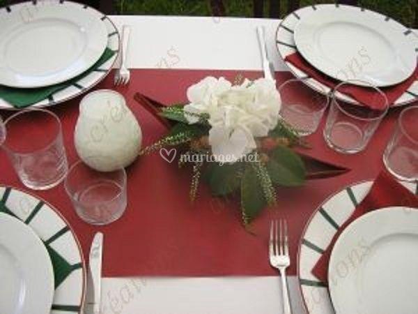 Centre de table hortensia