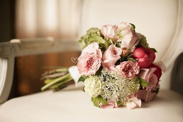 Bouquet couleurs vintage