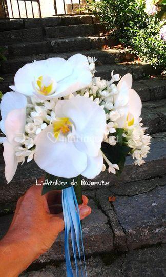 Bouquet rond phalaenopsis
