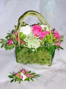 Sac floral et boutonnière