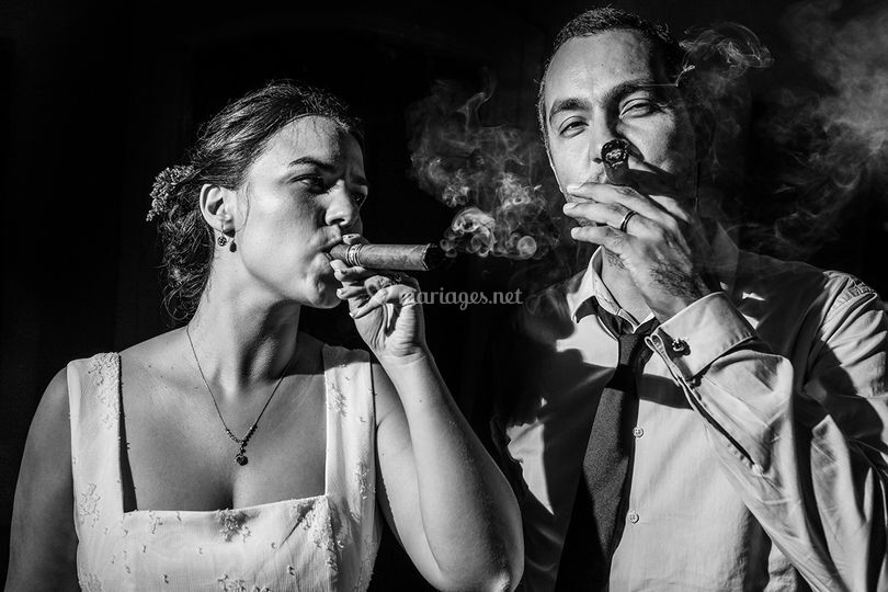 Marièe au cigare