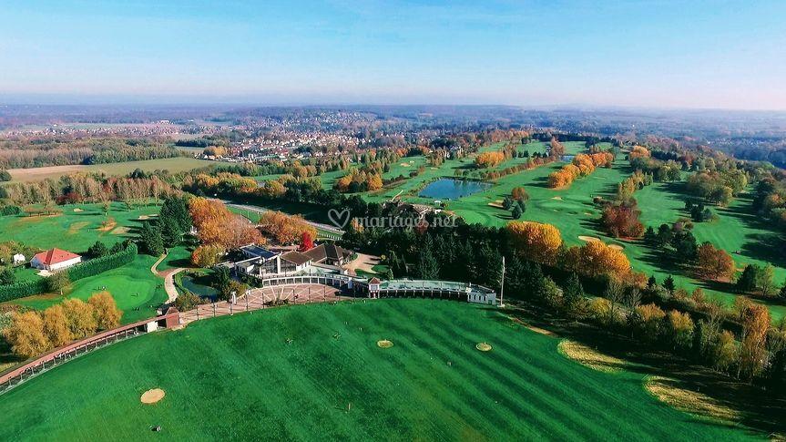 Le golf vue du ciel