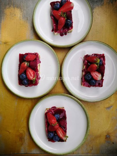 Cheesecakes aux fruits rouges