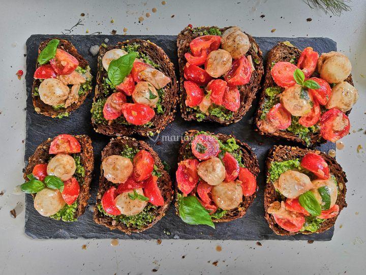 Toasts viking tomates mozza