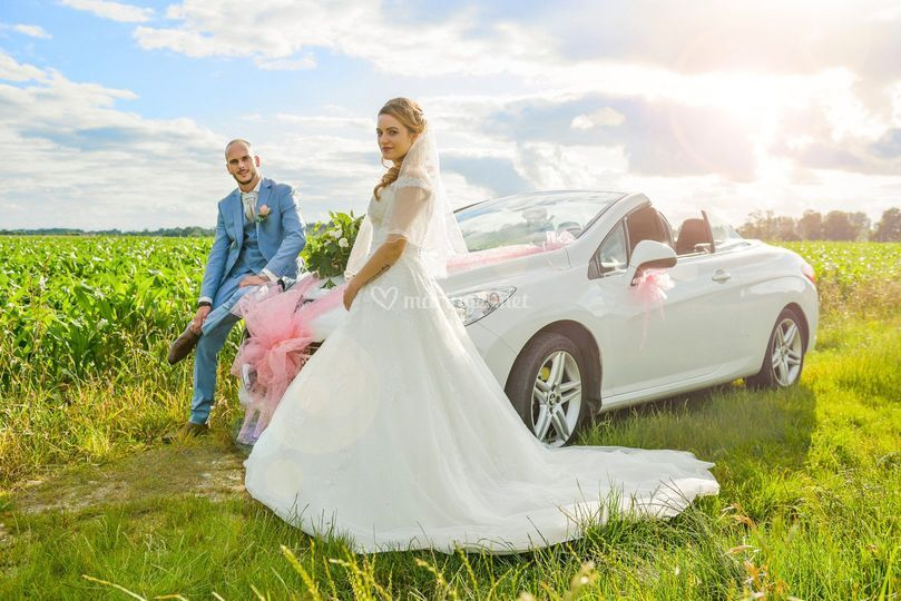 Mariage, Photo contre jour