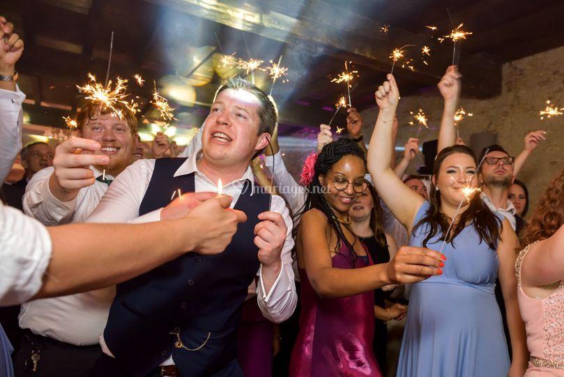 Artifices soirée mariage