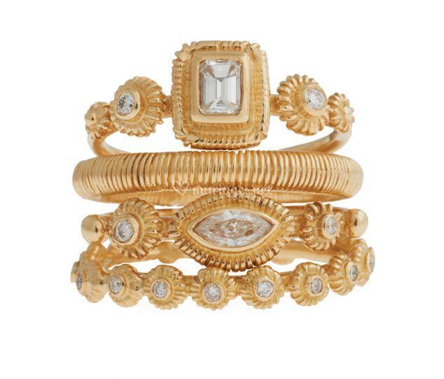 Bagues or750 diamants