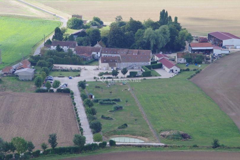Vue aérienne de Givry