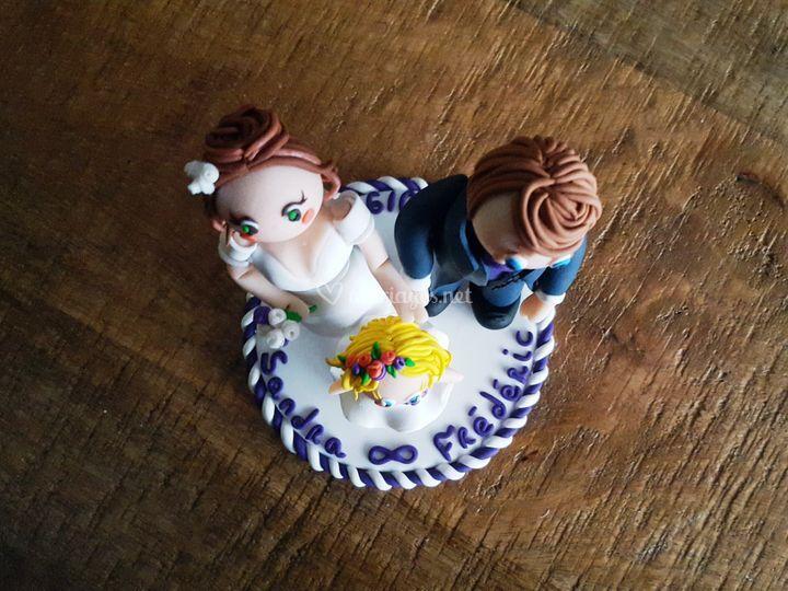Mariés et fillette