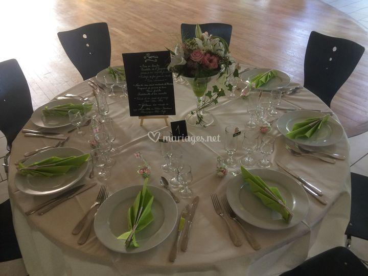 Exemple de table de mariage