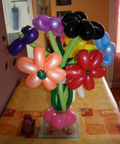 Bouquet fleurs en ballons
