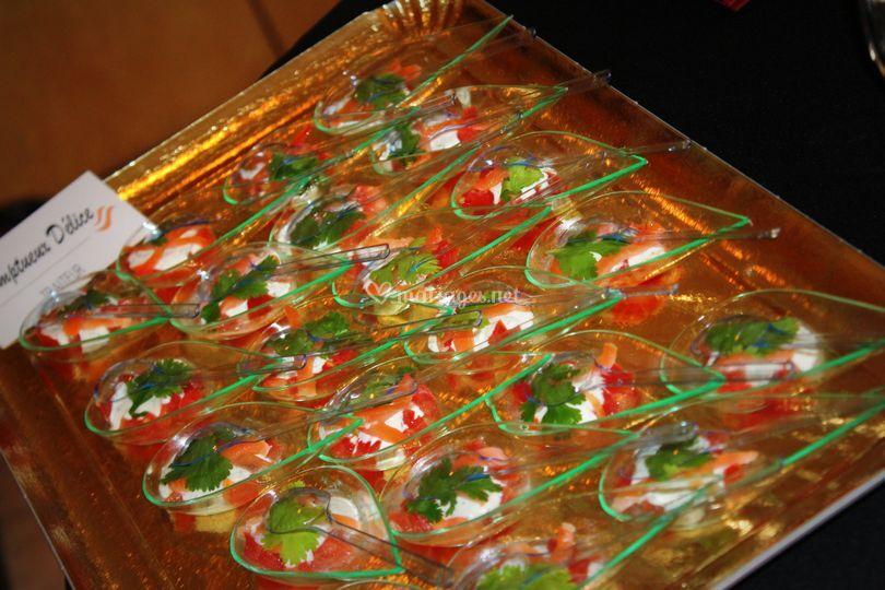 Salpicon de tomate saumon & aneth