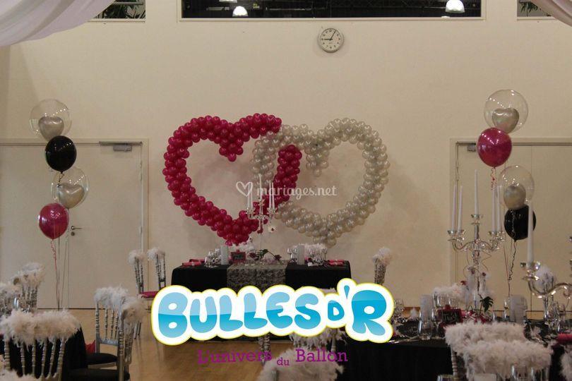 Double coeur ballons