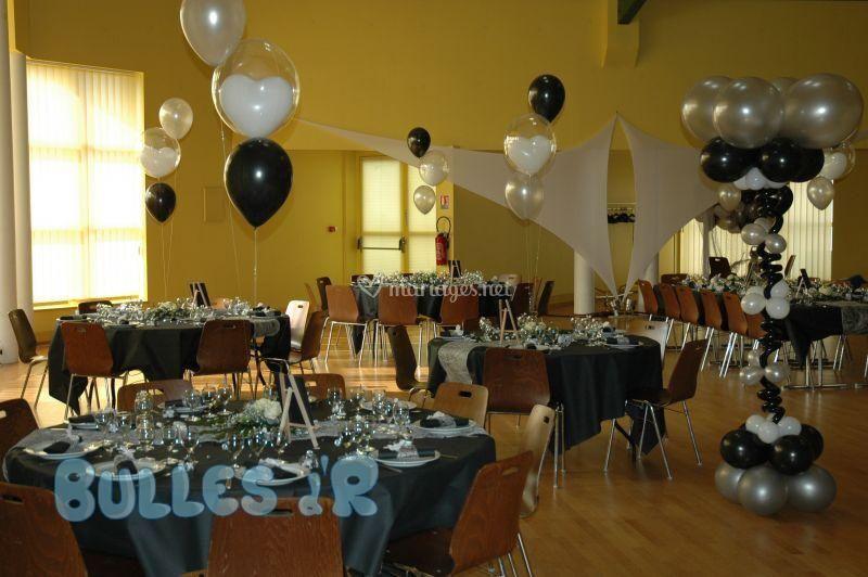 Mariageballons noir et blanc