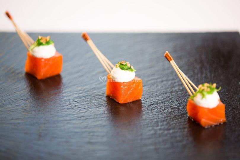 Cube de saumon