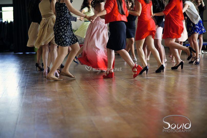 Danse talons couleur France