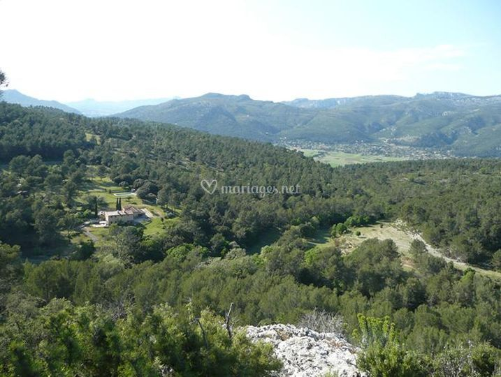 Vue des Barres du Castellet