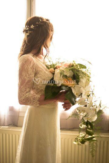 Bouquet classique retombant