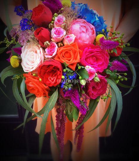 Bouquet tout en couleur !