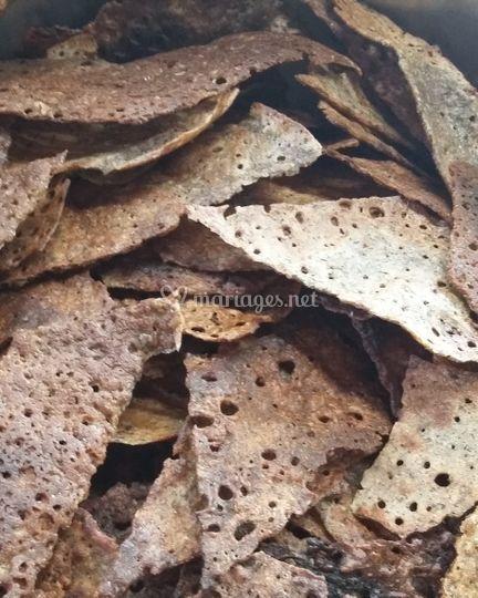 Chips maison de sarrasin