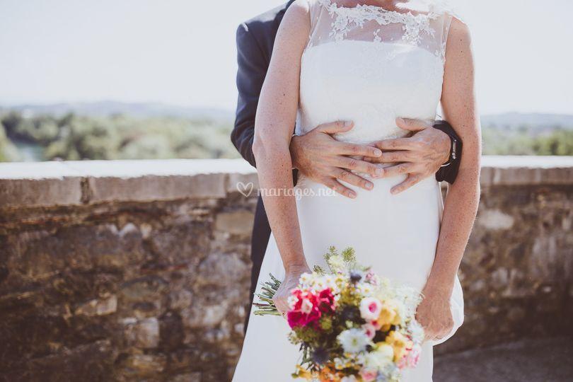 Mariage bohème multicolore