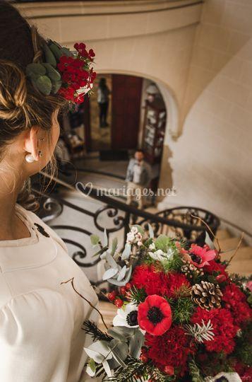 Bouquet thème hiver