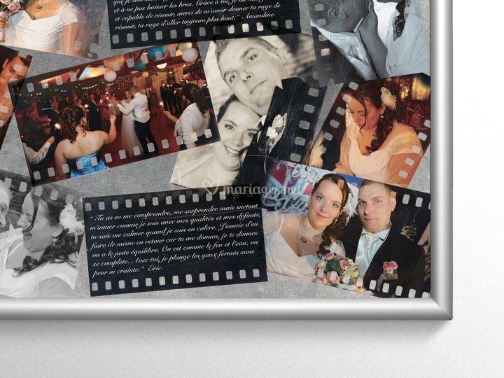Tableau souvenirs des mariés