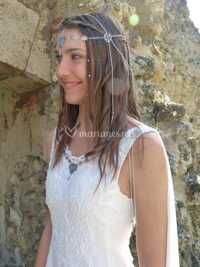 Robe elfique guipure
