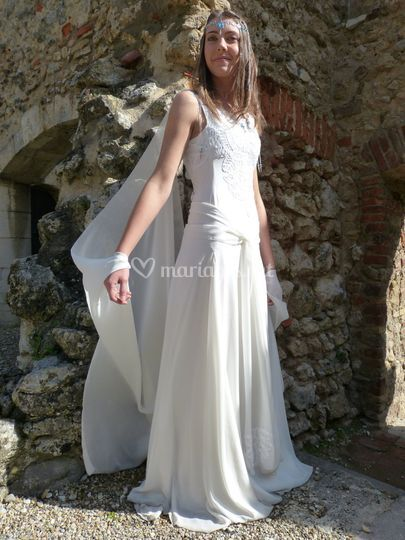 Robe elfique en mousseline