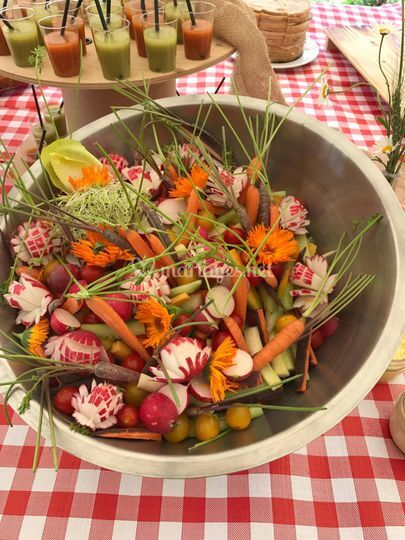 Bouquet de légumes à picorer