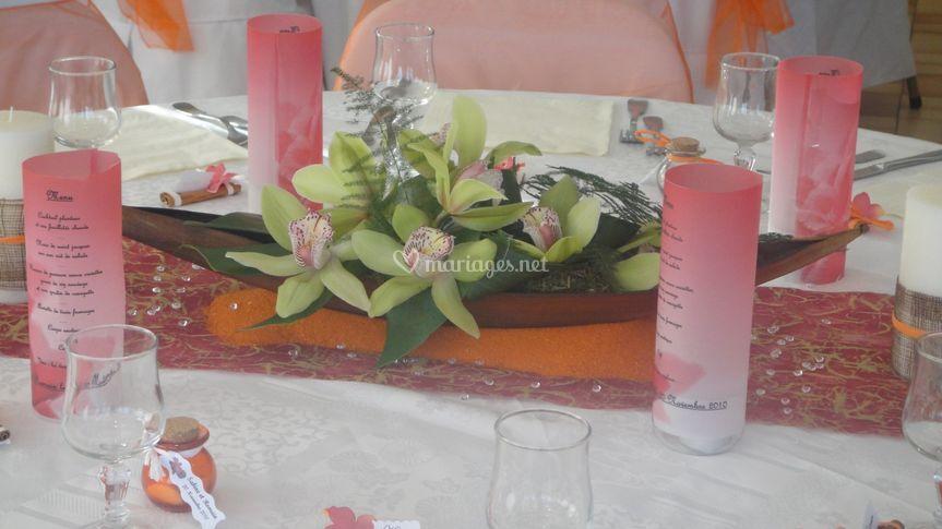 Exemple decoration de table