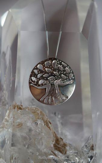 Collier argent arbre de vie