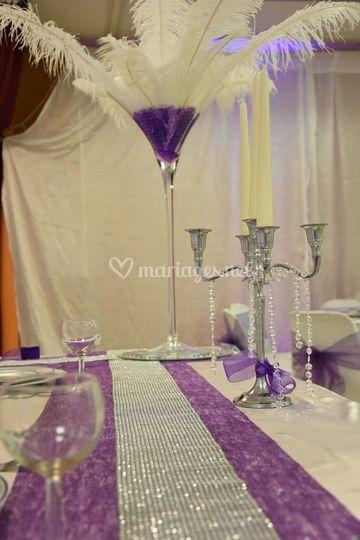 Thème blanc et violet