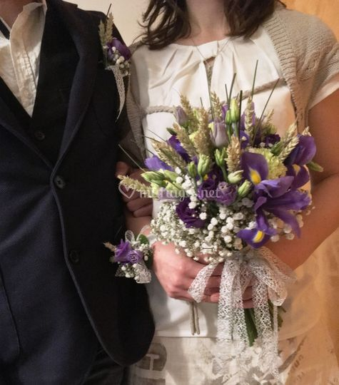 Bouquet de mariée, bracelet