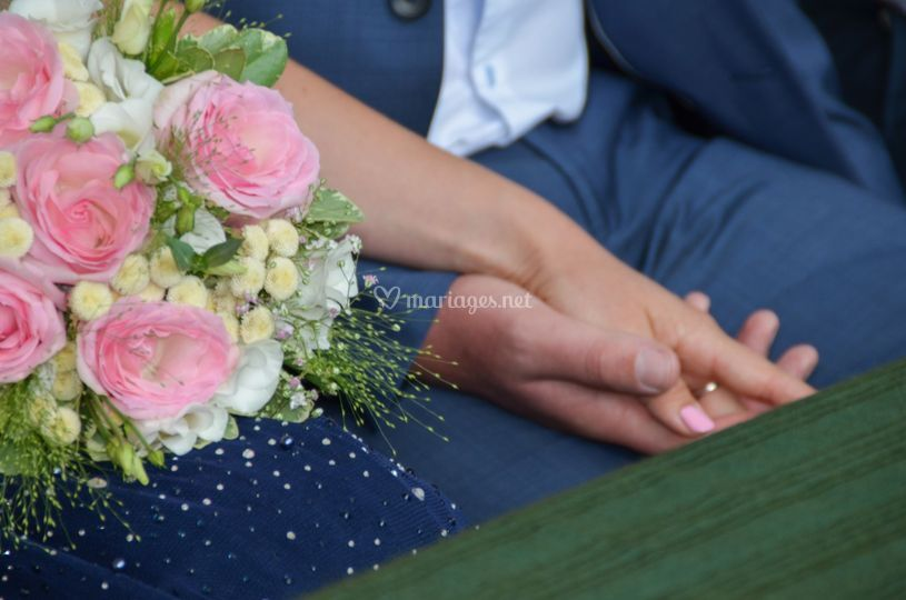 Mariage bleu et rose