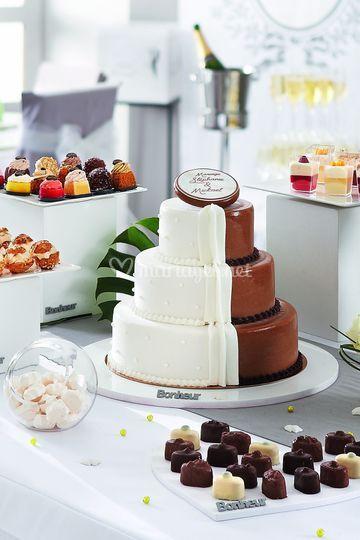 Gâteau mi homme mi femme