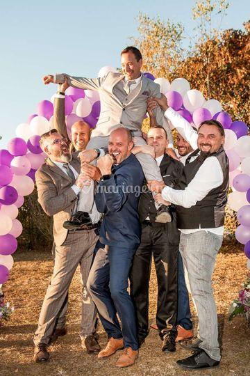 La joyeuse bande du marié